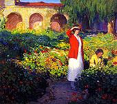 In the Garden By Joseph Kleitsch