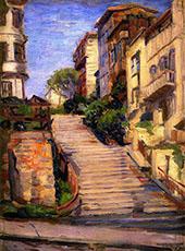 Nob Hill Joice Street San Francisco By Joseph Kleitsch