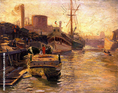 The Chicago River By Joseph Kleitsch