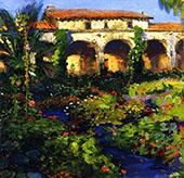 The Courtyard By Joseph Kleitsch
