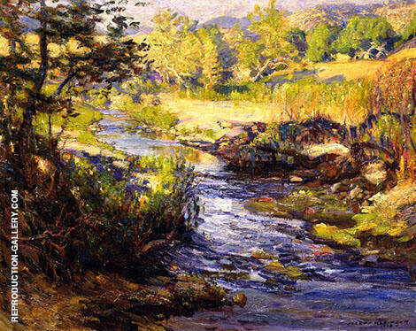 The Creek at Laguna Canyon By Joseph Kleitsch