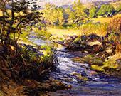 The Creek at Laguna Canyon By Joseph Kleitsch
