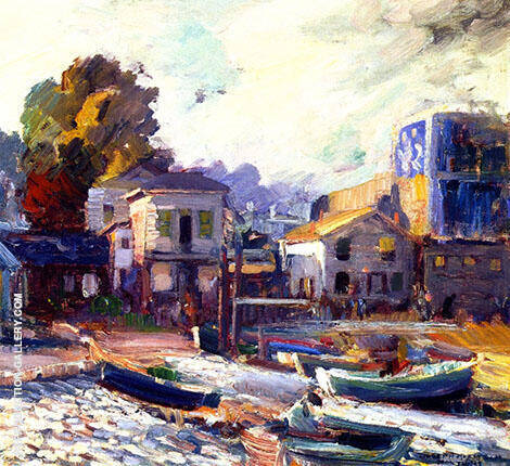 The Fish Market at Monterey By Joseph Kleitsch