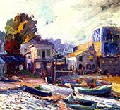The Fish Market at Monterey By Joseph Kleitsch