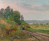 Out for a Stroll By Joseph Kleitsch