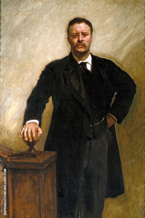 Portrait of Theodore Roosevelt 1903 By John Singer Sargent