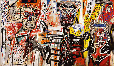 Philistines By Jean-Michel-Basquiat