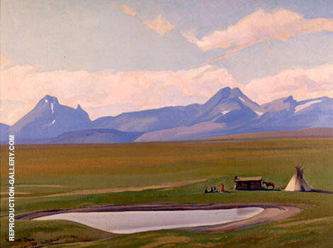 Home of the Blackfeet 1938 Painting By Maynard Dixon