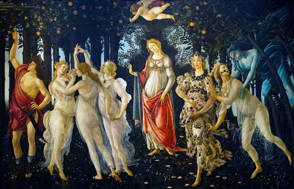 Primavera c1482 By Sandro Botticelli