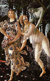 Detail from Primavera c1482 By Sandro Botticelli