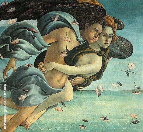 The Birth of Venus 1483-85 Detail 2 By Sandro Botticelli