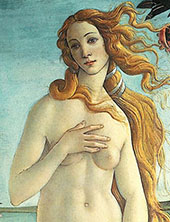 The Birth of Venus 1483-85 Detail 1 By Sandro Botticelli