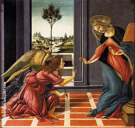 Cestello Annunciation Painting By Sandro Botticelli - Reproduction Gallery