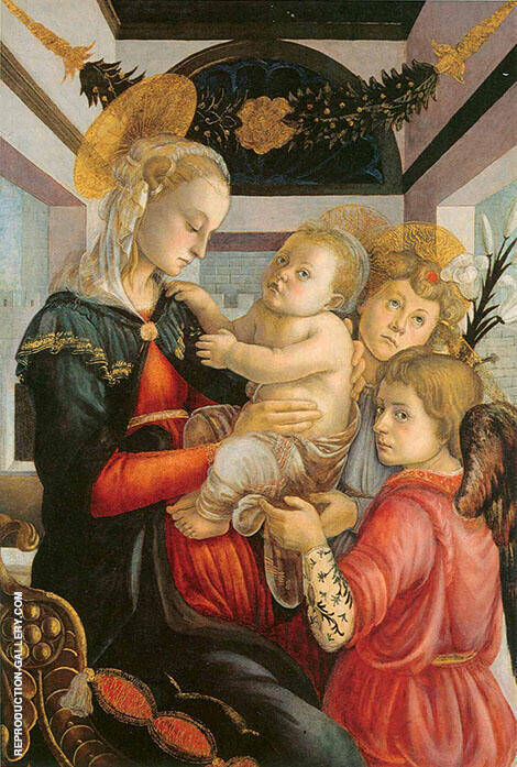 Madonna and Child with Angels c1465 Painting By Sandro Botticelli