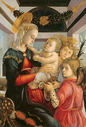 Madonna and Child with Angels c1465 By Sandro Botticelli