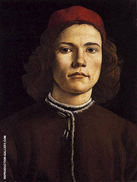 Portrait of a Young Man c1480-1485 By Sandro Botticelli