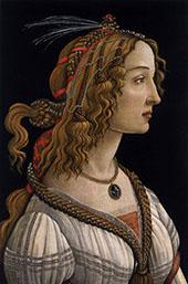 Portrait of Simonetta Vespucci as Nymph By Sandro Botticelli