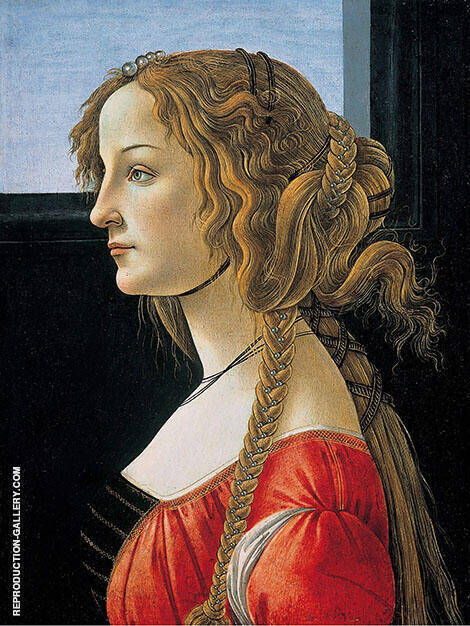 Portrait of Simonetta Vespucci By Sandro Botticelli