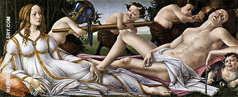 Venus and Mars By Sandro Botticelli