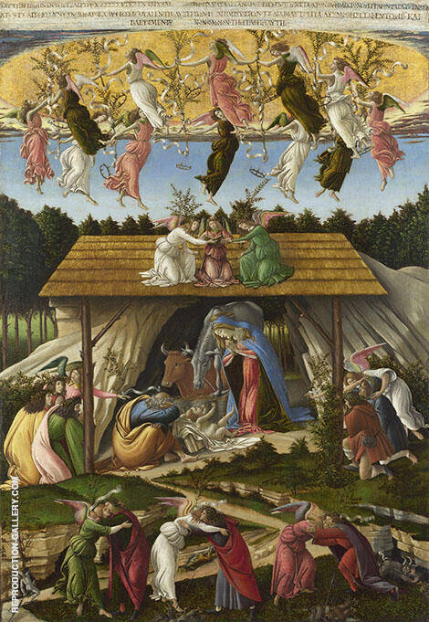 The Mystical Nativity c1500 Painting By Sandro Botticelli