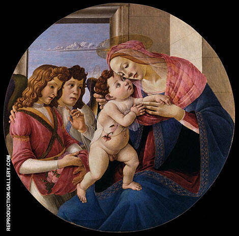 The Virgin and Two Angels By Sandro Botticelli