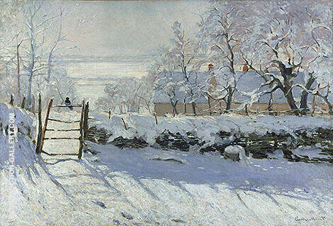 The Magpie c1868 Painting By Claude Monet - Reproduction Gallery