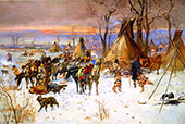 Indian Hunters' Return 1900 By Charles M Russell