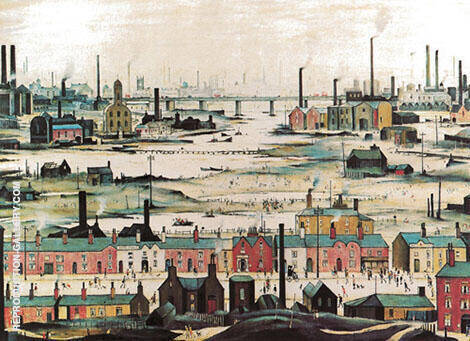 Industrial Landscape 1950 By L-S-Lowry