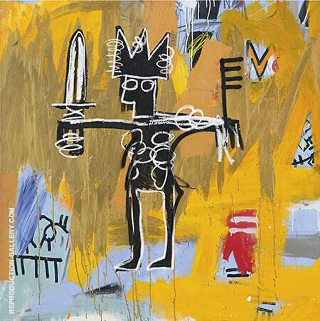 Untitled Julius Caesar on Gold By Jean-Michel-Basquiat