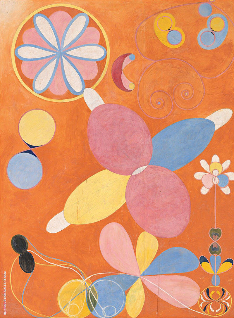 The Ten Largest No 3 Youth Group IV 1907 By Hilma AF Klint Replica Paintings on Canvas - Reproduction Gallery