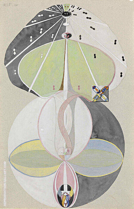 Tree of Knowledge No 5 Painting By Hilma AF Klint - Reproduction Gallery