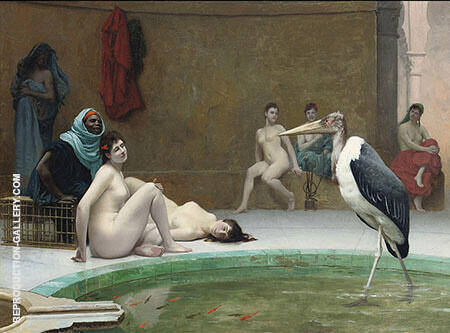 Le Marabout in The Harem Bath Painting By Jean Leon Gerome