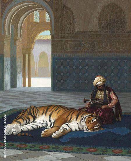 Le Tigre Et Le Gardien Painting By Jean Leon Gerome - Reproduction Gallery