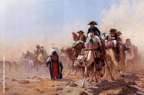 Napoleon and His General Staff 1867 Painting By Jean Leon Gerome