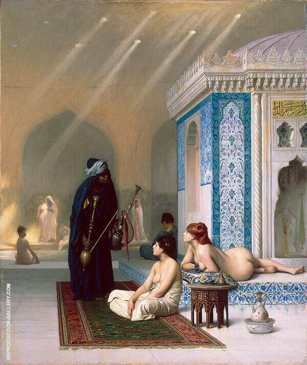 Pool in a Harem c1876 Painting By Jean Leon Gerome - Reproduction Gallery