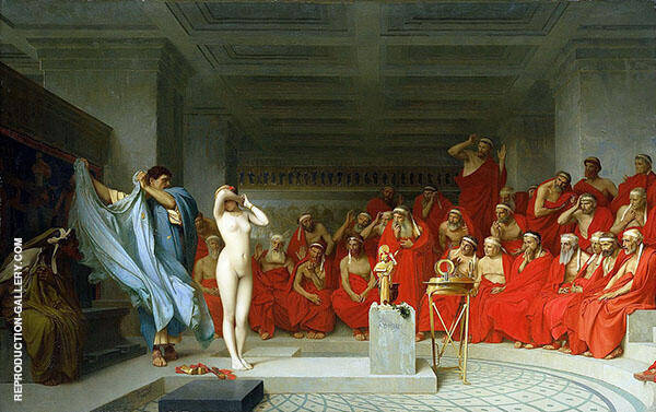 Phryne before The Areopagus 1861 By Jean Leon Gerome