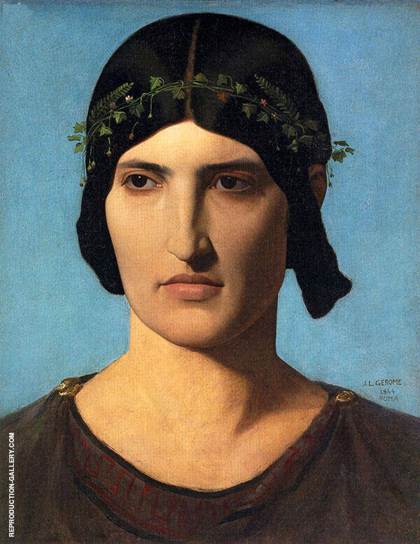 Portrait of a Roman Woman By Jean Leon Gerome