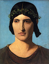Portrait of a Roman Woman By Jean Leon Gerome