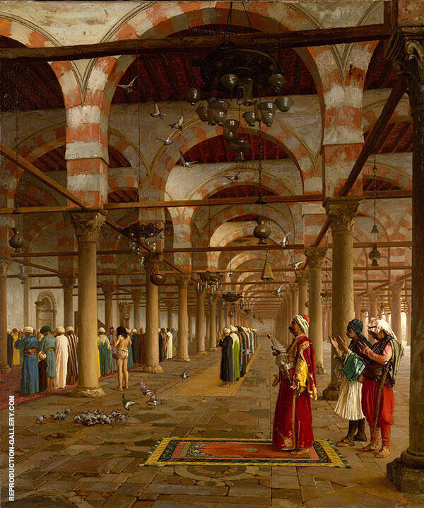 Prayer in The Mosque 1871 Painting By Jean Leon Gerome