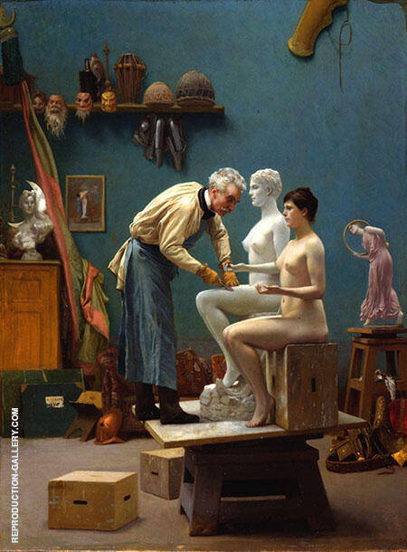 The Artists Model 1895 Painting By Jean Leon Gerome - Reproduction Gallery