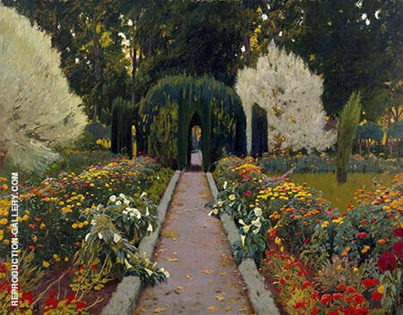 A Garden in Aranjuez 1908 By Santiago Rusinol