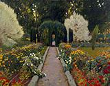 A Garden in Aranjuez 1908 By Santiago Rusinol