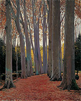 Avenue of Plane Trees By Santiago Rusinol