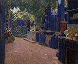 Blue Courtyard Arenys de Munt By Santiago Rusinol