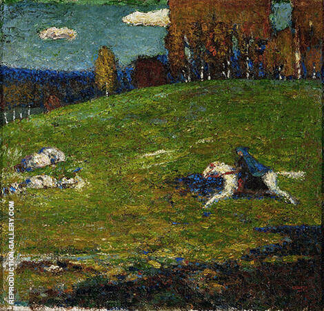 The Blue Rider 1903 Painting By Wassily Kandinsky - Reproduction Gallery