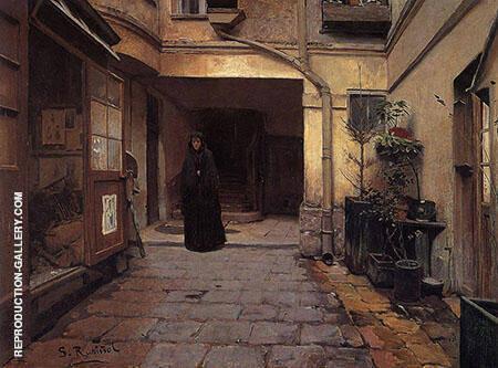 Casa de Empenos 1889 Painting By Santiago Rusinol - Reproduction Gallery