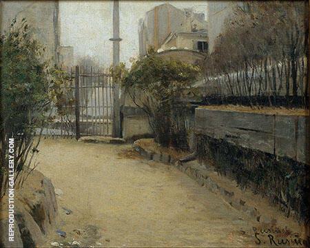 Garden of Montmartre By Santiago Rusinol