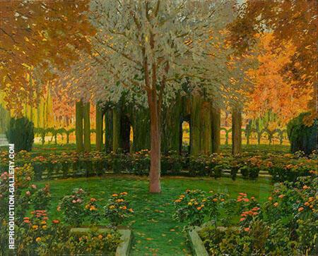 Glorieta de Dipreses y Jardin Aranjuez By Santiago Rusinol