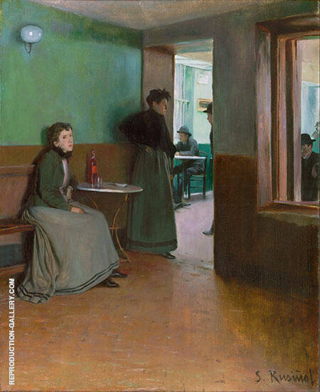 Interior of a Cafe By Santiago Rusinol