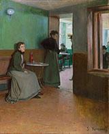 Interior of a Cafe By Santiago Rusinol
